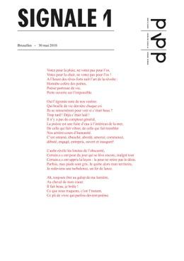 Signale 1 Partij voor de Poëzie