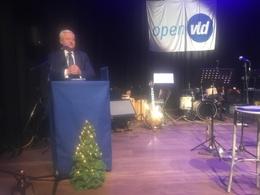 Guy Vanhengel (Open VLD) tijdens nieuwjaarstoespraak in thuisgemeente Evere.