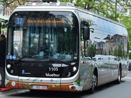 26 mei 2019: voorstelling van de nieuwe elektrische buslijn 37 van de MIVB in Ukkel