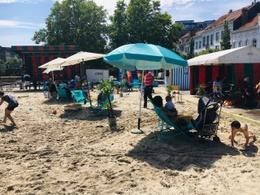 Marolle la plage, zomerstraat Hallepoort