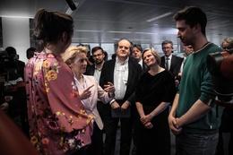 Centre for AI van de VUB en ULB. Bezoek van Europees Commissievoorzitter Ursula Von der Leyen in maart 2020