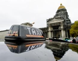 20181014 taxiprotest tegen Uber taxichauffeurs Poelaertplein