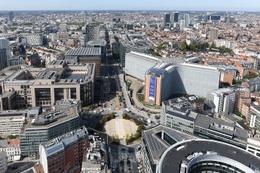 Het Schumanplein, midden in de Europese wijk