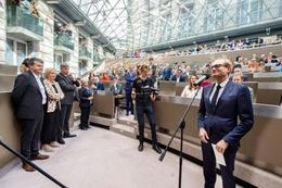 Ben Weyts (N-VA), Vlaams Minister van Onderwijs, Dierenwelzijn en Sport, in het Vlaams Parlement