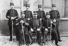 Brusselse politieagenten in 1900